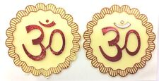 2 x Plastic Adhesive Red Aum Religious Sticker – Hindu Religious Sticker