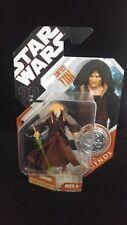 SAESEE TIIN Star Wars Hasbro 30th MOC Silver Coin AOTC Saga Legends JEDI Revenge