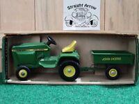 Ertl John Deere Lawn And Garden Set Tractor Dump Cart Trailer 1:16 Scale Diecast