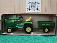 Ertl John Deere Lawn And Garden Set Tractor Dump Cart Trailer 1:16 Scale Diecast