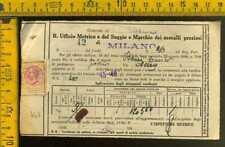 Marca da Bollo Pesi Misure Marchio su Documento mg 447 Turbigo