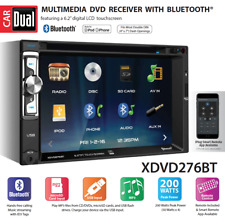 New Dual Xdvd276Bt 2 Din Cd Dvd Player Receiver Usb Aux Bluetooth Camera Input