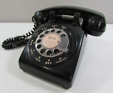 Vintage Black Bell System Western Electric Rotary Dial 1955 C/D 500 Telelphone