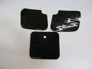 K27. Suzuki RM 80 Numéro de Départ Étiquette Set de Décoration Décor Noir Capot