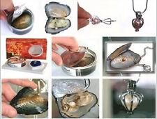 Wholesale 10 Set/lot Fashion Love Wish Pearl Necklace Set Oyster Drop Pendant