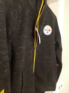 Pittsburgh Steelers Front Zipper Jacket - Mens Medium