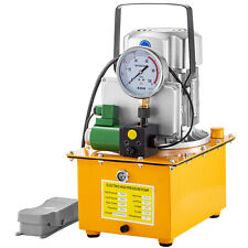 Electric Hydraulic Pump Single Acting Solenoid Valve 10000 PSI 7L Oil Capacity