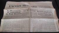 Diario Nacionalista ACCIÓN Francesa 27 Abril 1934 N º 117 ABE