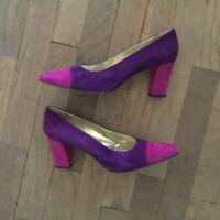 ESCADA Women classic suede purple lialic heels pumps size 8B