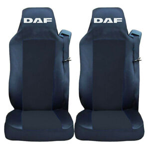 PAIR Seat Covers Black BLACK for DAF CF XF 106 EURO 6 Truck Tailored Lorry RHD