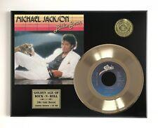 "Michael Jackson - Billie Jean LTD EDITION GOLD 45 RECORD DISPLAY ""M4"""