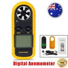 Digital Anemometer Air Wind Speed Meter Velocity LCD Handheld Thermometer