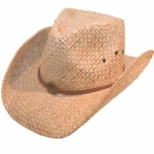 Unisex Natural Straw Cowboy Hat Sun Cap Men's Women's Band Ladies Summer Hawkins