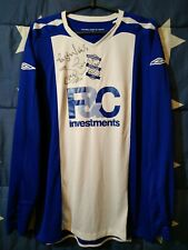 SIZE XL Birmingham City 2007-2008 SIGNED Home Football Long Sleeve Shirt Jersey