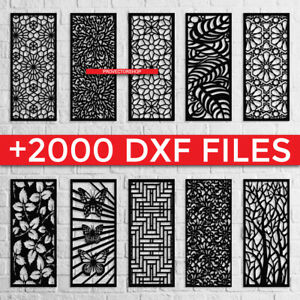 2000 Files CNC, Vector DXF, Cleam file cut for cnc router,laser,plazma