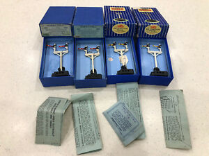 HORNBY DUBLO ED3 electric 2x Home & 2x Distant Junction Signals Boxed