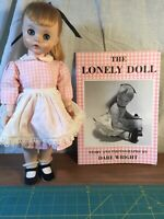 "Madame Alexander Edith The Lonely Doll 16"" Jointed Waist 1958 + Book Dare Wright"