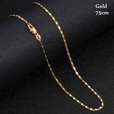 Günstige Kostüm Shiny Schmuck Blattgold Design Anhänger Halskette Lange PullovXJ