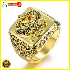Gold Plated Jewelry Gift Size 7-13 New Fashion Eagle Rings for Men