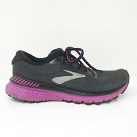 Brooks Womens Adrenaline GTS 20 1202961B062 Black Purple Running Shoes Size 8 B