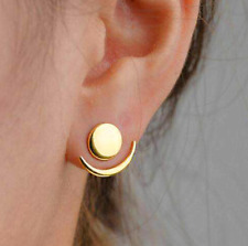 1Pair Simple Statement Gold Plated Elegant Charm Moon Ear Stud Jewelry Earrings