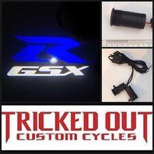 Suzuki GSXR projection led light (BLUE) shines image onto ground BLUE GSXR