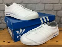 ADIDAS ORIGINALS MENS UK 7 EU 40 2/3 THE SNEEKER LEATHER WHITE TRAINERS LG
