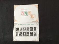 France - 2 blocs feuillets Neufs 2013 Marianne 5e République Au Fil des timbres