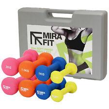 Mirafit 10kg Dumbbell Weights Set Ladies/Aerobics Gym Class/Workout Dumbells Kit