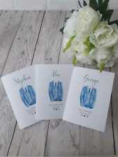 Personalised Will you be our Best man, Usher Card - Blue suit - Groomsman