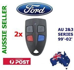 2x Ford AU Falcon/FPV/XR6/XR8 Car Series 2 & 3 99'-02' AU2/AU3 remote key