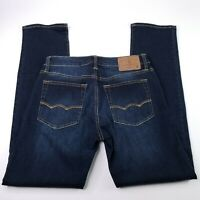 American Eagle AEO Men's 28x32 Extreme Flex Slim Straight Denim Jeans Dark Blue