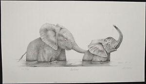 Peter HILDICK, Original Offset Lithograph, Bathtime, Signed & Numbered