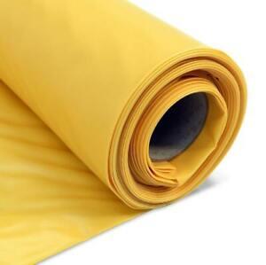 Yellow Radon Barrier Toughsheet- 300mu 1200g 4m wide ~ Gas Protection Polythene