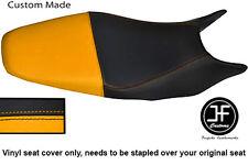 Vinilo Negro y Amarillo Personalizado SE AJUSTA a HONDA HORNET CB 600 98-01 Dual Cubierta de asiento solamente