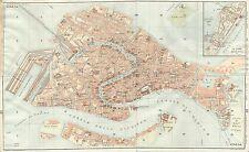Carta geografica antica VENEZIA Pianta della città TCI 1920 Antique map Venice