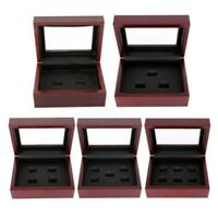 2-4 Holes Wooden Display Box For World Series Stanley Championship Ring Gift