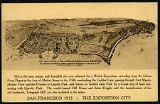 1915 SAN FRANCISCO PPIE PANAMA-PACIFIC~RARE BIRDSEYE POSTCARD of EXPOSITION CITY