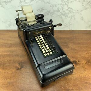 WORKING Antique Burroughs mechanical adding machine Class-3 Calculator #3-869410