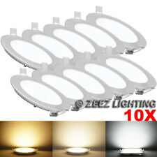 10X Cool White 3W Round LED Recessed Ceiling Panel Down Lights Bulb Lamp Fixture