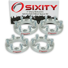 """4pc 1"""" Wheel Spacers Chevy Colorado Adapters Lugs Studs 6x5.5 we"""