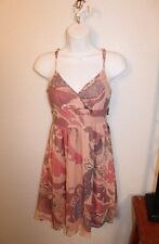 JUNIOR WOMENS PINK FLORAL SPAGHETTI STRAP SUNDRESS by FIRE LOS ANGELES SIZE 3