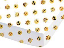 Cti 044738 Emoji Emotions Drap Housse polycoton Blanc 190 x 140