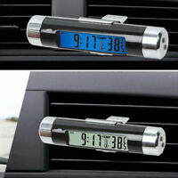 Car Auto Dashboard Digital LCD Blue Backlight Mini Thermometer Time Clock Access