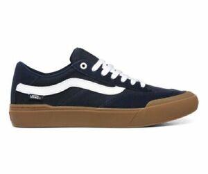 Men Vans Berle Pro Skate Shoes Sneakers Size 12 Dress Blues Gum True White
