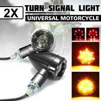 Pair Universal Motorcycle LED Rear Turn Signal Stop Brake Light Indicator