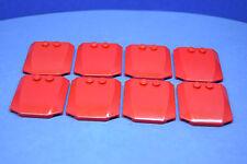 LEGO 8 x Motorhaube Dach 4x4 rot red wedge triple curved 45677 4193074