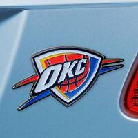 Oklahoma City Thunder Heavy Duty Metal 3-D Color Auto Emblem