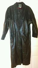 GLOBAL IDENTITY G III  Women's Leather black long trenchcoat Size S