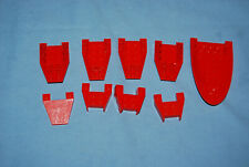 J Lego Lot 9 Red Wedge Pieces GUC 2399 4856 43713
